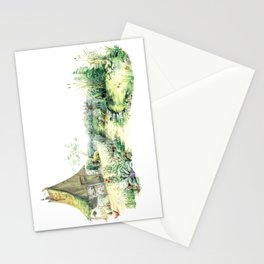 Literary Garden for Wizards and Gnomes Stationery Cards