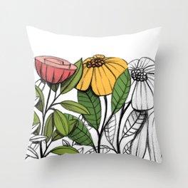 First summer blooms Throw Pillow