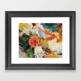Seeking Stillness [detail 1] Framed Art Print