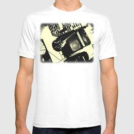 Shockin' White Light Guitar T-shirt