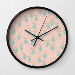 When life gives you lemons you make a pretty print Wall Clock