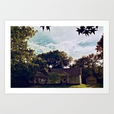 Clouds of Lawrence, Kansas Art Print