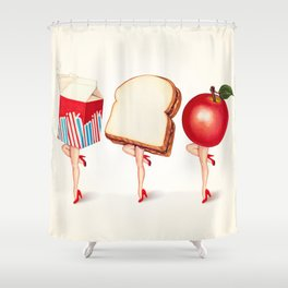 Lunch Ladies Pin-Ups Shower Curtain