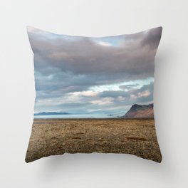 Glacier Fields of Iceland Throw Pillow