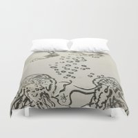 under the sea Duvet Covers featuring Under The Sea Sketch by ANoelleJay