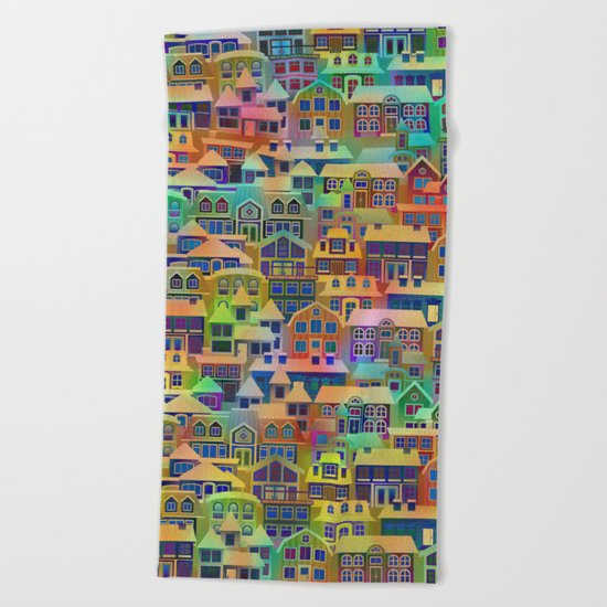 Fairytale City #2 Beach Towel