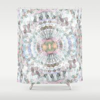 kaleidoscope Shower Curtains featuring kaleidoscope by abbykaye