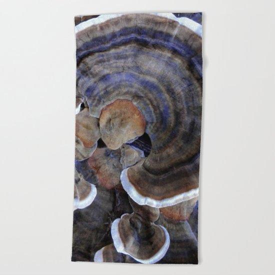 Winter Mushrooms Beach Towel