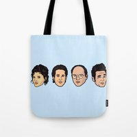 seinfeld Tote Bags featuring Seinfeld by Michael Walchalk