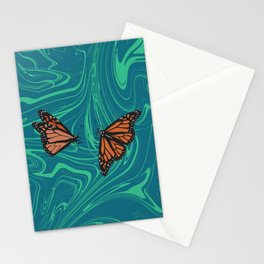 Monarch Swirls Stationery Cards