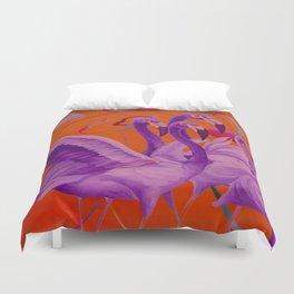 Purple Flamingo Duvet Cover