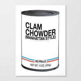 01 Clam Chowder Canvas Print