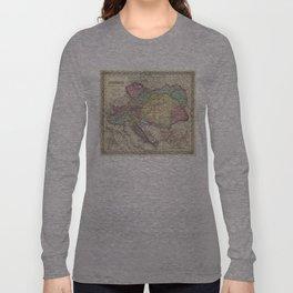Vintage Map of Austria (1856) Long Sleeve T-shirt