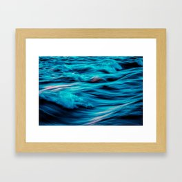 Abstract Ocean Waves Framed Art Print