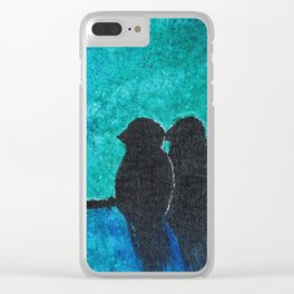 Pair of Birds Clear iPhone Case
