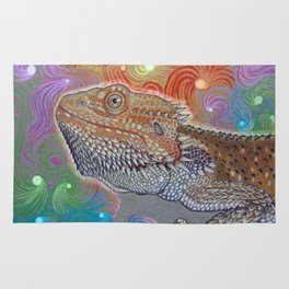Cosmic Dragon, Bearded Dragon Art Rug