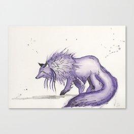 Hitodama the spirit wolf. Canvas Print