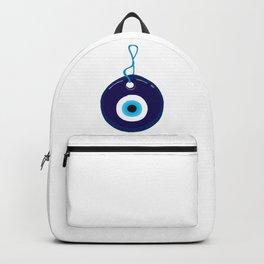 Blue Evil Eye Bead Backpack