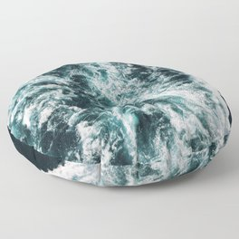 Green Seas, Yes Please Floor Pillow