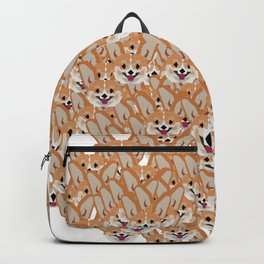 Cardigan Corgi Face Pattern - version three Backpack