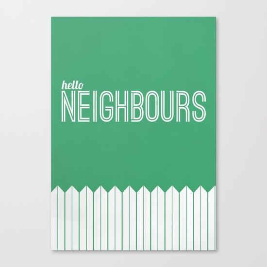 Neighbours Canvas Print