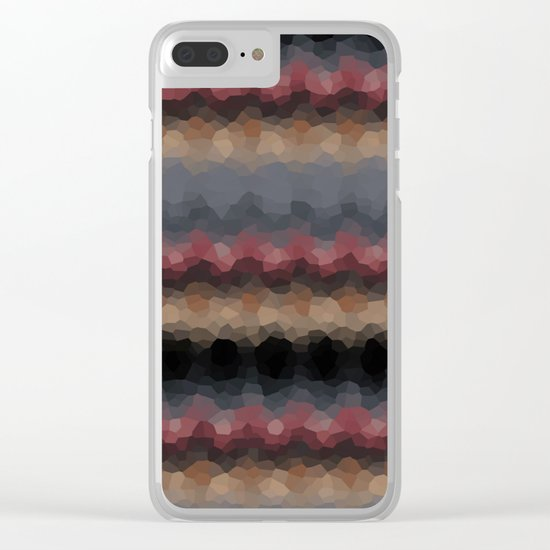 "Abstract pattern ""Black and red wave"" . Clear iPhone Case"
