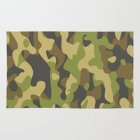 military Area & Throw Rugs featuring Military Pattern by Crazy Thoom