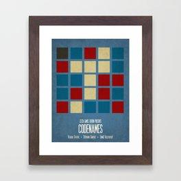 Codenames (Blue) - Minimalist Board Games 05A Framed Art Print