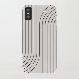 Minimal Line Curvature - Black and White I iPhone Case