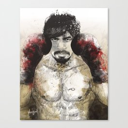 Manny Pacquiao - Bloody Gloves Canvas Print