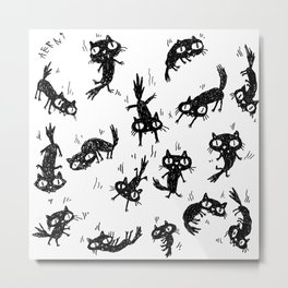 Falling Cats Metal Print