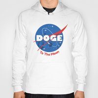 doge Hoodies featuring Nasa Doge by Tabner's