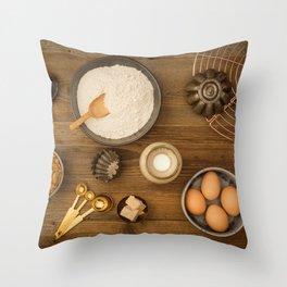 Basic baking ingredients Throw Pillow