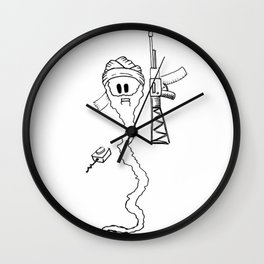 Osama Sperm Laden Wall Clock