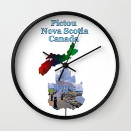 Pictou Nova Scotia Canada Wall Clock