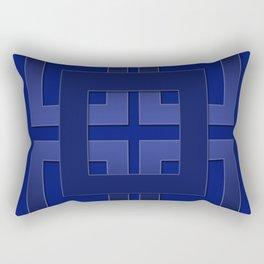 Indigo , blue Rectangular Pillow