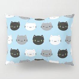 Cute Cats & Kawaii Kittens (Blue) Pillow Sham