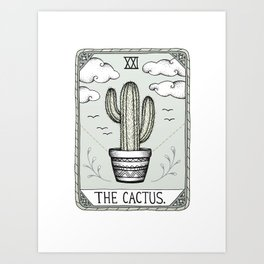 The Cactus Art Print