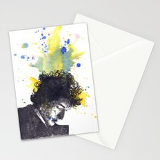Portrait of Bob Dylan in Color Splash Stationery Cards