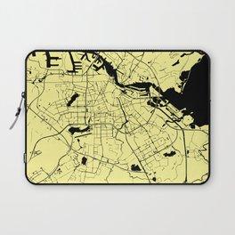 Amsterdam Yellow on Black Street Map Laptop Sleeve
