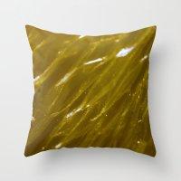 orange pattern Throw Pillows featuring Orange pattern by Svetlana Korneliuk