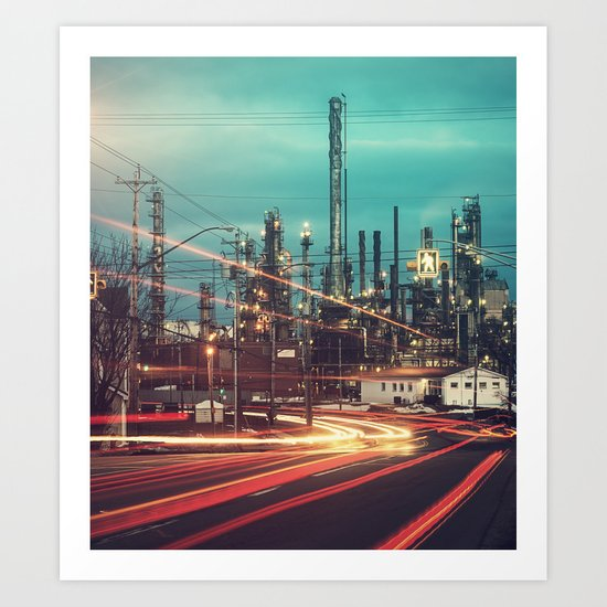 Road to the Refinery Art Print