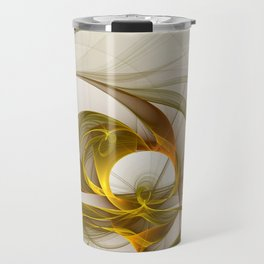 Fractal Art Precious Metals, Abstract Graphic Travel Mug