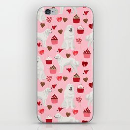 Great Pyrenees dog breed valentines day gifts for dog lover unique dog breeds valentine iPhone Skin