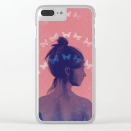 Dreaming of Butterfly Clear iPhone Case