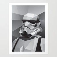 stormtrooper Art Prints featuring Stormtrooper by Filip Peraić
