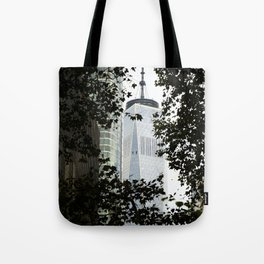 Seeing WTC1 through the Trees Tote Bag
