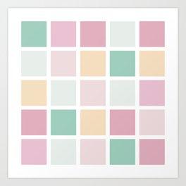 Square Pattern Art Print