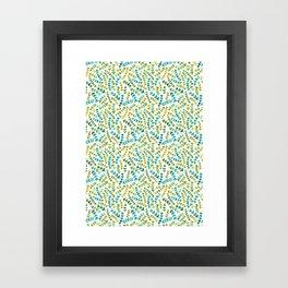 watercolour ferns Framed Art Print