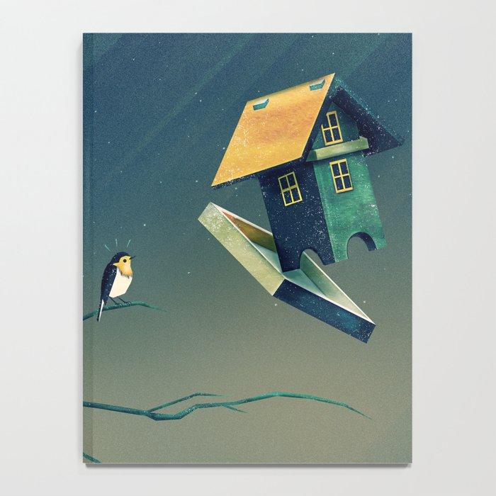Flying Bird...house Notebook